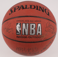 Hall of Famers & Stars Basketball Signed by (12) with Oscar Robertson, Bob Pettit, Rick Barry, George Yardley, Harry Gallatin (JSA ALOA) at PristineAuction.com