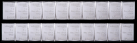 Lot of (20) 1 Gram Silver Valcambi Mint Bullion Bars (2 Uncut Sheets) at PristineAuction.com