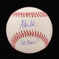 "Akil Baddoo Signed OML Baseball ""Go Twins!"" (JSA COA) at PristineAuction.com"