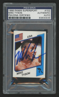 Mike Tyson Signed 1986 Panini SuperSport Stickers #153 (PSA Encapsulated) at PristineAuction.com