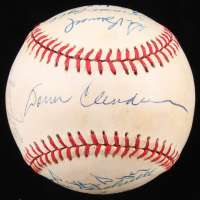 1969 Mets World Series Champions ONL Baseball Team-Signed by (15) with Donn Clendenon, Tommie Agee, Jerry Koosman, Ron Swoboda (SOP LOA) at PristineAuction.com