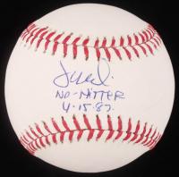 """Juan Nieves Signed OML Baseball Inscribed """"No-Hitter 4.15.87."""" (JSA Hologram) at PristineAuction.com"""