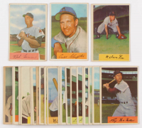 Lot of (30) 1954 Bowman Baseball Cards with #196 Bob Lemon, #62 Enos Slaughter, #6 Nellie Fox at PristineAuction.com