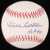 "Steve Carlton Signed OML Baseball Inscribed ""HOF 94"" (JSA Hologram) at PristineAuction.com"