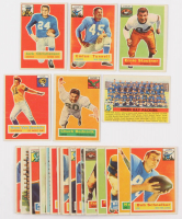 Lot of (25) 1956 Topps Football Cards with #17 Emlen Tunnell, #6 Norm Van Brocklin, #20 Jack Christiansen, #28 Chuck Bednarik, #87 Ernie Stautner at PristineAuction.com