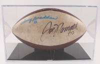 Joe Namath & Terry Bradshaw Signed LE Super Bowl XXXIV Logo Football with Display Case (JSA LOA) at PristineAuction.com