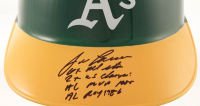 Jose Canseco Signed Athletics Batting Helmet with (4) Inscriptions (PSA COA) at PristineAuction.com