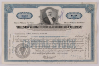 """Vintage 1939 """"The New York Central Railroad Company"""" (100) Shares Stock Certificate at PristineAuction.com"""