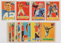 Lot of (30) 1956 Topps Football Cards with #77 Charley Conerly, #6 Norm Van Brocklin, #53 Frank Gifford, #116 Bobby Layne at PristineAuction.com