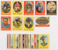 Lot of (49) 1958 Topps Football Cards with #42 Emlen Tunnell, #59 Mike McCormack, #75 John Henry Johnson, #35 Chuck Bednarik, #73 Frank Gifford at PristineAuction.com