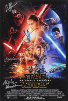 """Star Wars: The Force Awakens"" 12x18 Photo Signed by (4) with Andy Serkis, Christian Alzmann, J.J. Abrams & Michael Arndt (AutographCOA Hologram) at PristineAuction.com"