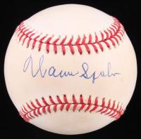 Warren Spahn Signed ONL Baseball (JSA COA) at PristineAuction.com
