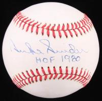 """Duke Snider Signed OML Baseball Inscribed """"HOF 1980"""" (JSA COA) at PristineAuction.com"""