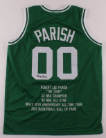 Robert Parish Signed Career Highlight Stat Jersey (JSA COA) at PristineAuction.com