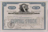 "Vintage 1941 ""The New York Central Railroad Company"" (100) Shares Stock Certificate at PristineAuction.com"