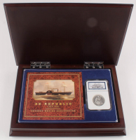 1861-O 50¢ Seated Liberty Half-Dollar - SS Republic - Original Shipwreck Coin - Shipwreck Effect - with Wooden Display Case (NGC Encapsulated) at PristineAuction.com