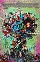 """Suicide Squad"" 12x18 Photo Signed by (5) with Will Smith, Adam Beach, Ike Barinholtz, Jai Courtney & Karen Fukuhara (AutographCOA Hologram) at PristineAuction.com"