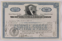 "Vintage 1943 ""The New York Central Railroad Company"" (100) Shares Stock Certificate at PristineAuction.com"