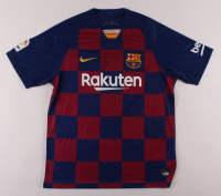 "Lionel Messi Signed FC Barcelona Jersey Inscribed ""Leo"" (Beckett COA) at PristineAuction.com"