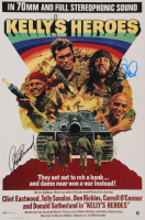 """Clint Eastwood & Donald Sutherland Signed """"Kelly's Heroes"""" 12x18 Photo (AutographCOA Hologram) at PristineAuction.com"""