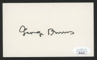 George Burns Signed 3x5 Index Card (JSA COA) at PristineAuction.com