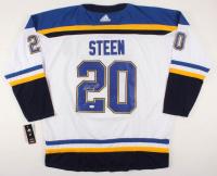 Alexander Steen Signed Blues Jersey (JSA COA) at PristineAuction.com