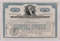"""Vintage 1940 """"The New York Central Railroad Company"""" (100) Shares Stock Certificate at PristineAuction.com"""