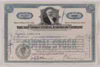 """Vintage 1941 """"The New York Central Railroad Company"""" (100) Shares Stock Certificate at PristineAuction.com"""