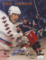 Eric Lindros Signed Rangers 8x10 Photo (JSA COA) at PristineAuction.com