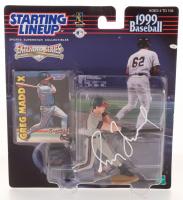 Greg Maddux Signed 1999 Baseball Starting Line Up Figurine Box (JSA COA) at PristineAuction.com