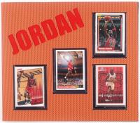 Michael Jordan Bulls 10.5x12 Custom Matted Card Display at PristineAuction.com