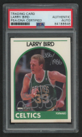 Larry Bird Signed LE 1989-90 Hoops #150 (PSA Encapsulated) at PristineAuction.com