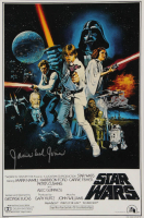 """James Earl Jones & Peter Mayhew Signed """"Star Wars"""" 12x18 Photo with Inscription (AutographCOA Hologram) at PristineAuction.com"""