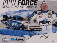 "John Force Signed 8x10 Photo Card Inscribed ""16x"" (JSA COA) at PristineAuction.com"