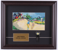 "Leroy Neiman ""Payne Stewart At Augusta National"" 14x16 Custom Framed Print Display with Masters Divot Tool at PristineAuction.com"