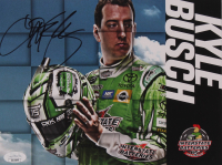Kyle Busch Signed 8x10 Photo Card (JSA COA) at PristineAuction.com