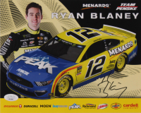 Ryan Blaney Signed 8x10 Photo Card (JSA COA) at PristineAuction.com
