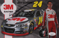 Jeff Gordon Signed 5.5x8.5 Photo Card (JSA COA) at PristineAuction.com