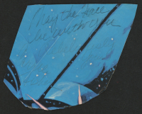 "Carrie Fisher Signed ""Star Wars"" 3x5 Cut Inscribed ""May the Force Be With You"" & ""Rebelliously Yours"" (JSA COA) at PristineAuction.com"