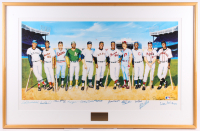 The 500 Home Run Club 29x45 Custom Framed Lithograph Display Signed (12) with Ted Williams, Mickey Mantle, Harmon Killebrew, Frank Robinson (JSA ALOA) at PristineAuction.com