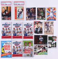 Lot of (61) Sports Cards with (2) PSA Graded Cards (7 & 8), (8) Raw Cards & (4) Unopened Baseball Card Packs at PristineAuction.com