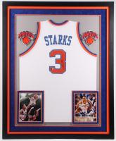 John Starks Signed 36x44 Custom Framed Jersey Display (JSA COA & Sports Memorabilia Hologram) at PristineAuction.com