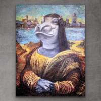 "Greg Matsey Signed ""Fiona Lisa"" 36x48x1 Mixed Media Giclee on Canvas at PristineAuction.com"