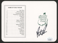 Patrick Reed Signed August National Golf Club Score Card (JSA COA) at PristineAuction.com