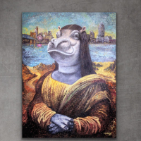 "Greg Matsey Signed ""Fiona Lisa"" 30x40x1 LE Mixed Media Giclee on Metal at PristineAuction.com"