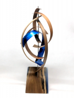 "Jeff Linenkugel ""Streak"" 11x11x28 Mixed Media Wood Sculpture at PristineAuction.com"