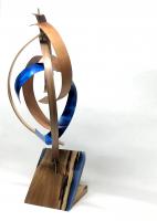 "Jeff Linenkugel ""Streak"" 11x11x28 Mixed Media Wood Sculpture at PristineAuction.com"