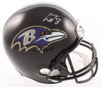 Lamar Jackson Signed Ravens Full-Size Helmet (PSA COA) at PristineAuction.com