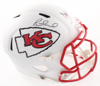 Tyreek Hill & Patrick Mahomes Signed Chiefs Full-Size Matte White Speed Helmet (PSA COA) at PristineAuction.com