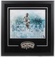 George Gervin Signed Spurs 30x31 Custom Framed Photo Display (JSA COA & Sports Memorabilia Hologram) at PristineAuction.com